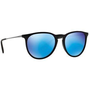 Ray Ban Erika Black/Blue Mirrored Sunglasses